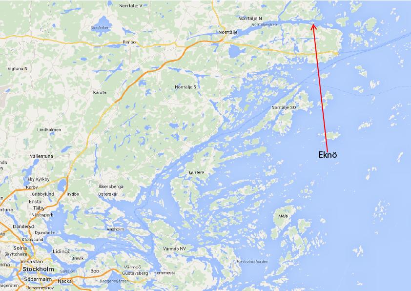 Båtkarta till Eknö
